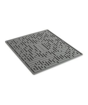 Dry everything from heavy cookware to delicate champagne glasses on this revolutionary drying mat. The unique design allows for maximum drainage and air exposure, ensuring that items dry quickly and easily. Use it as a trivet too!