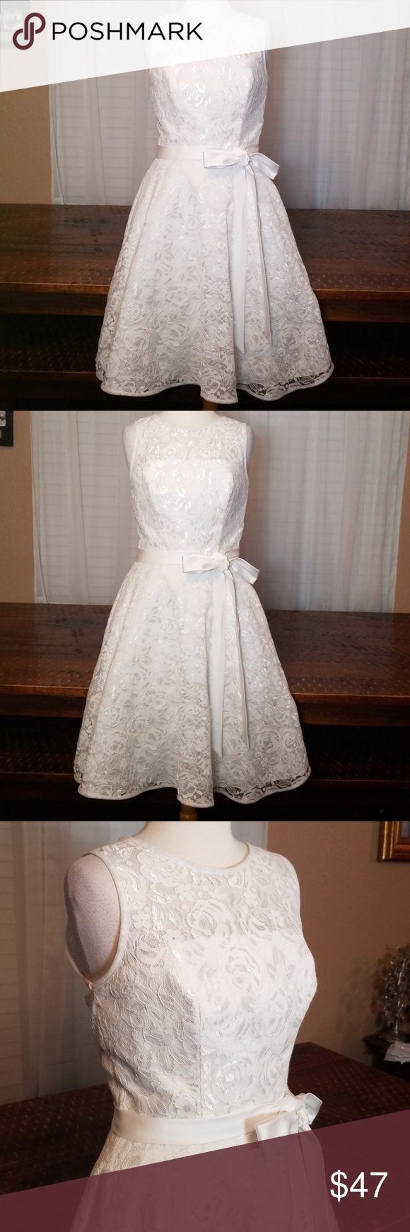 White lace Wedding, Formal, Bridesmaid dress sz 6 Andrew Adela sz 6 white lace formal Sz 6 Nwot Perfect for a formal, a wedding dress, bridesmaid dress, or flower girl dress. Could also be worn as a confirmation dress or for any other formal. Andrew Adela Dresses Wedding #confirmationdresses White lace Wedding, Formal, Bridesmaid dress sz 6 Andrew Adela sz 6 white lace formal Sz 6 Nwot Perfect for a formal, a wedding dress, bridesmaid dress, or flower girl dress. Could also be worn as a confirma #confirmationdresses