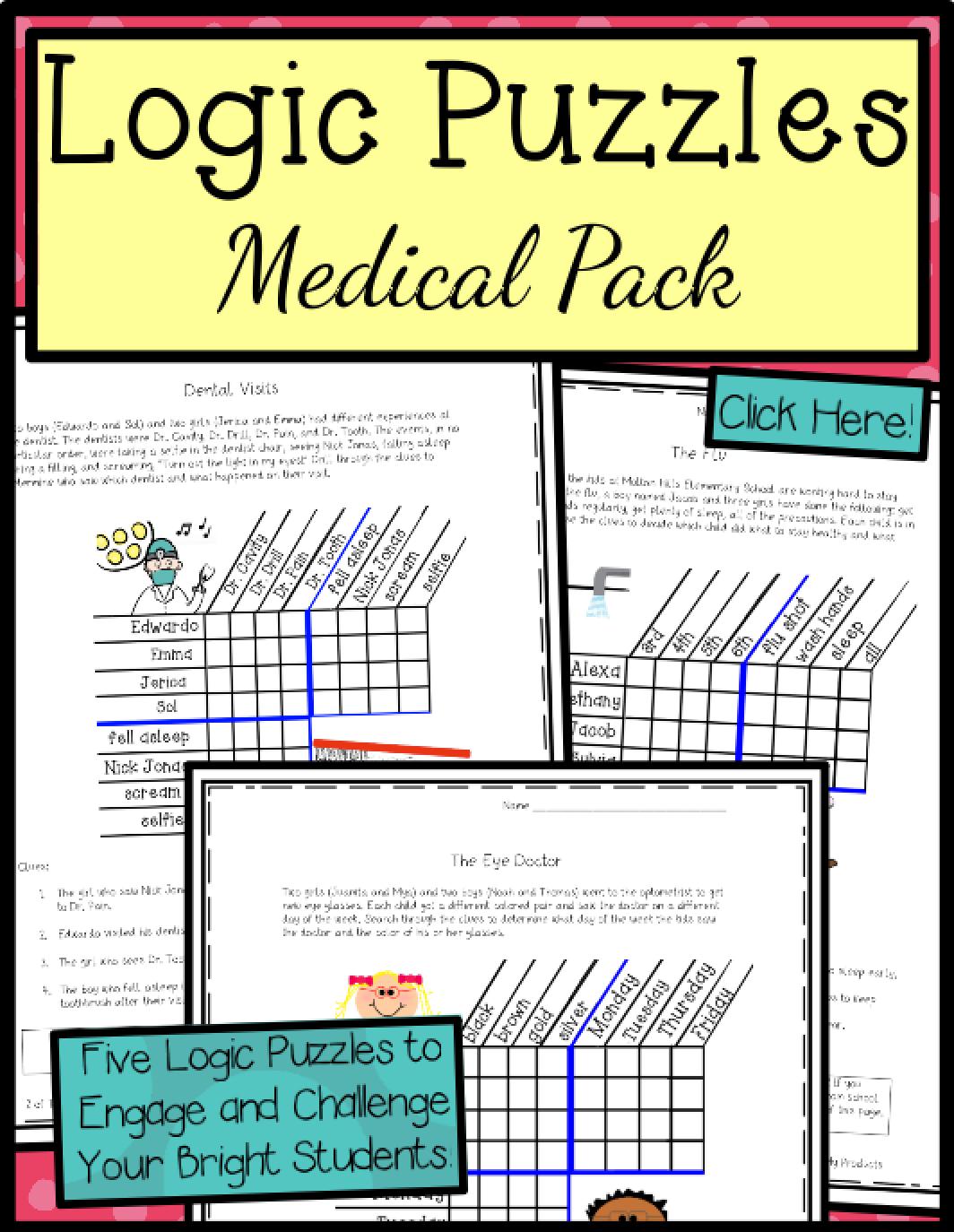 Logic Puzzles 5th Grade