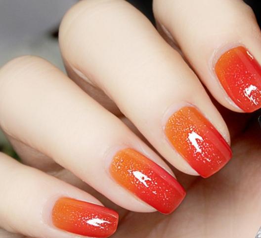 Orange Nail Polish Combinations: 1 Pc 6ml Thermal Color Changing Nail Polish Varnish Peel