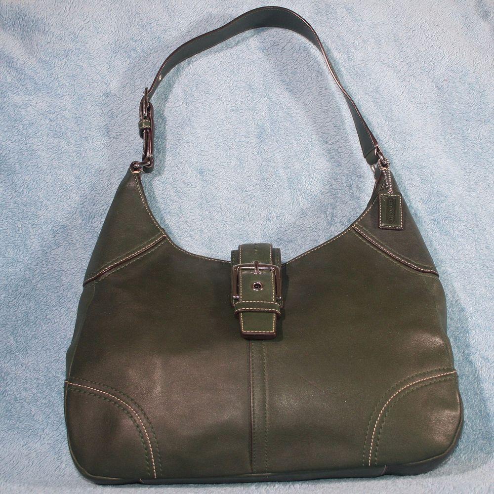 Coach hamilton olive green large leather hobo shoulder bag jpg 1000x1000 Coach  hobo handbag green a2245be9e6