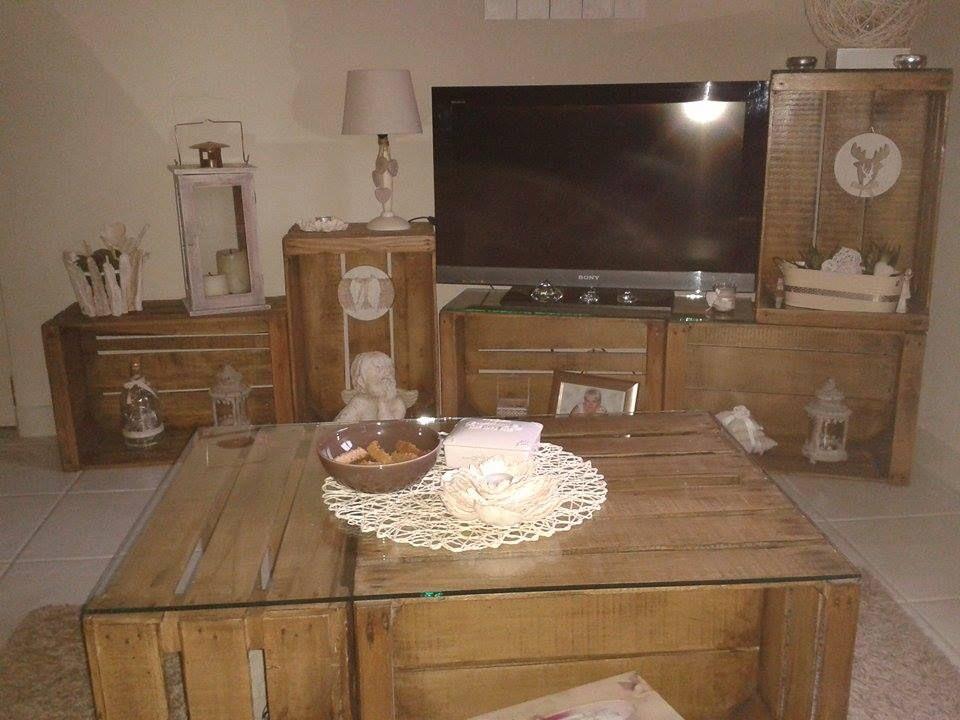 Caisse crate apple collection bois etagere mobilier diy meuble tv cositas - Caisse apple ...