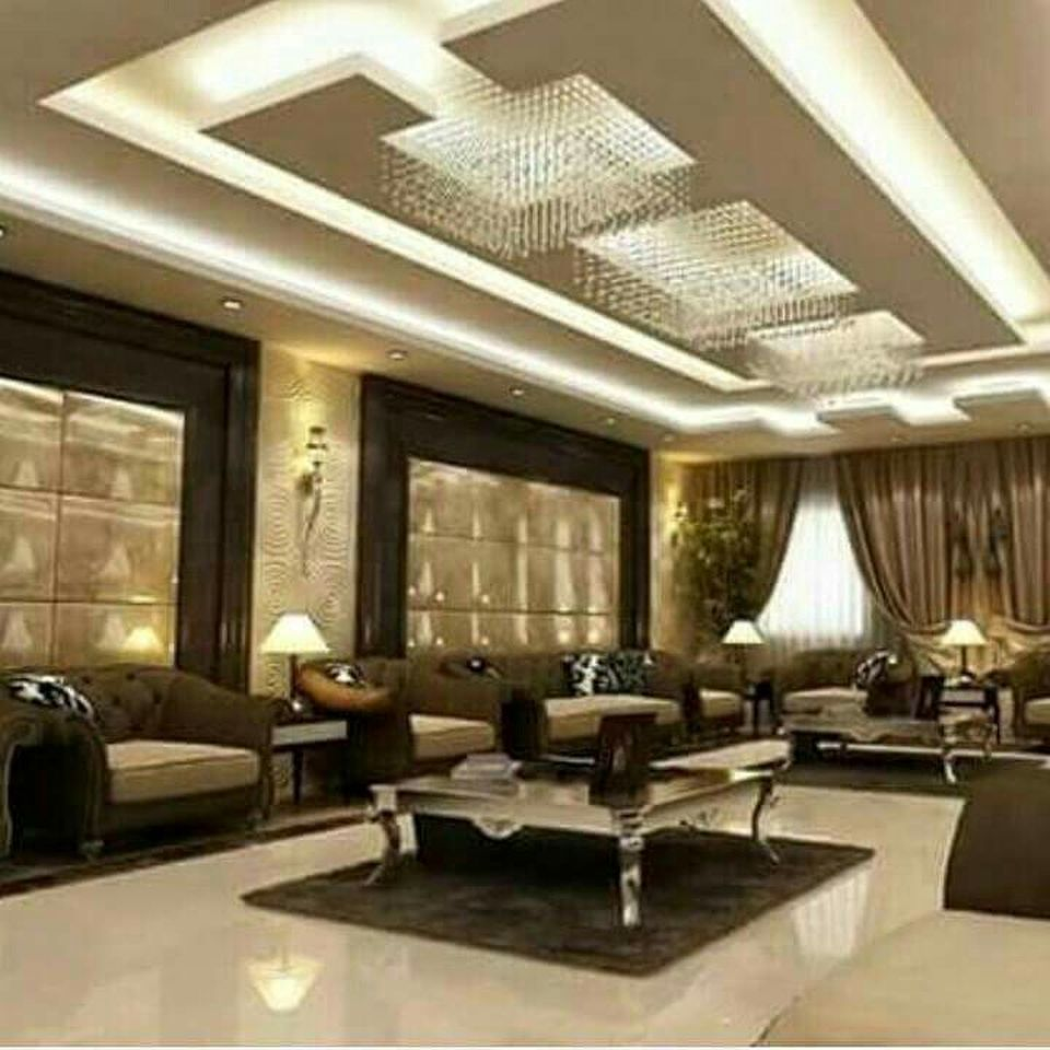 False Ceilings Design With Cove Lighting For Living Room 2 ...