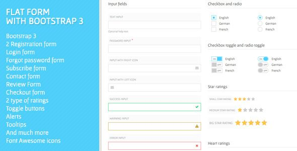 Flat Form With Bootstrap 3 Codecanyon Dev Frameworks