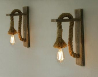 Pair of wall lamp reclaimed wood wall sconce mason jar lighting