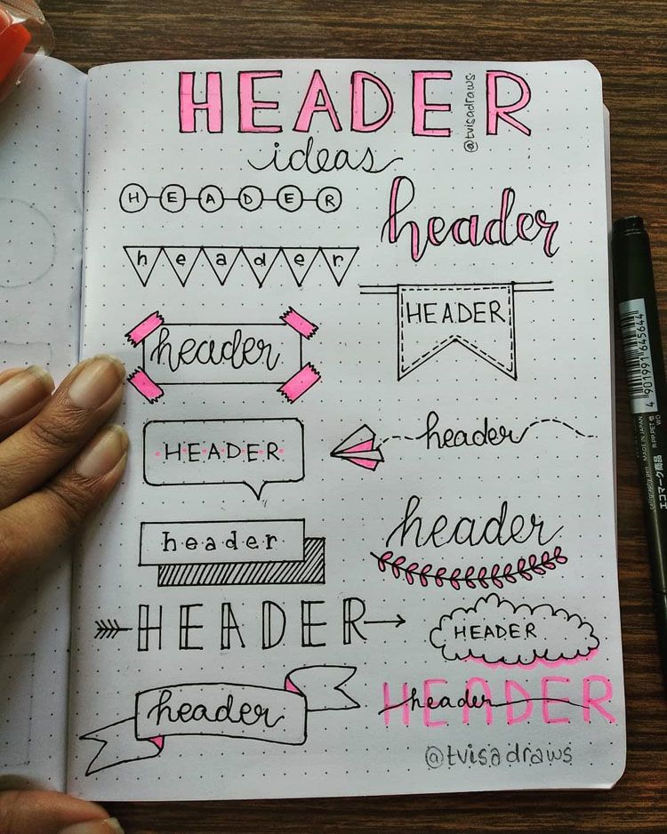 32+ Stunning Bullet Journal Header and Title Ideas - Beautiful Dawn Designs