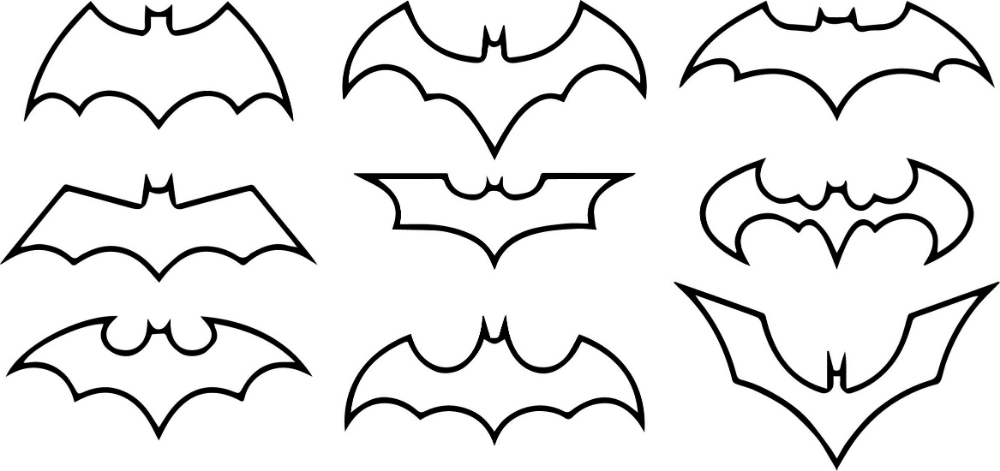 Various Batman Logo Coloring Pages Educative Printable Coloring Pages Batman Symbol Fall Coloring Pages