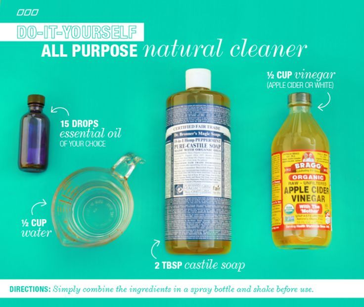 High Quality 6 All Natural Household DYI Cleaners