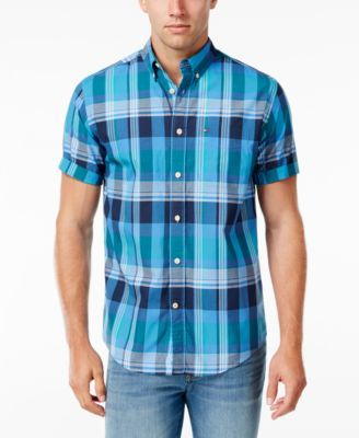 TOMMY HILFIGER Tommy Hilfiger Men's Aldis Plaid Shirt. #tommyhilfiger #cloth #down shirts