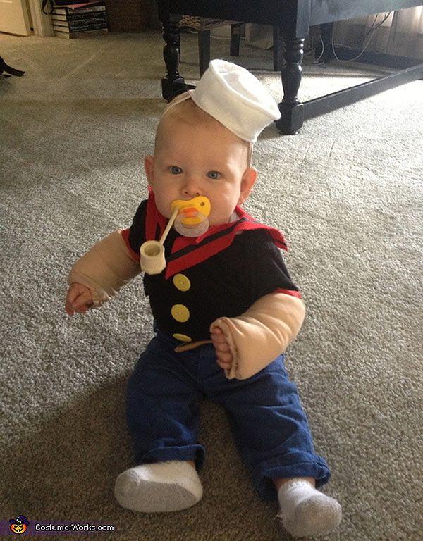 Disfraces de bebés  Popeye ... así vestiré a mi gordo este Halloween ... 05f6b9e968db