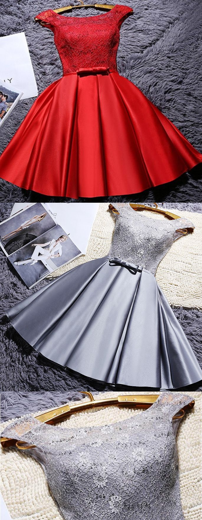 Bateau party dresses grey short homecoming dresses homecoming