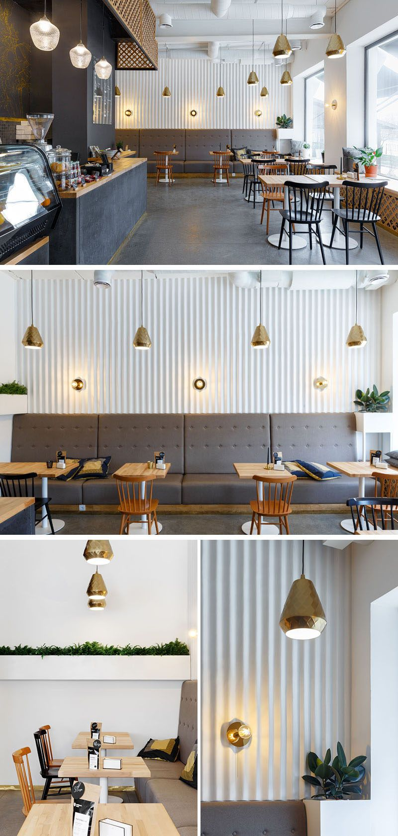 This Ukrainian Coffee Shop Has Touches Of Gold Throughout