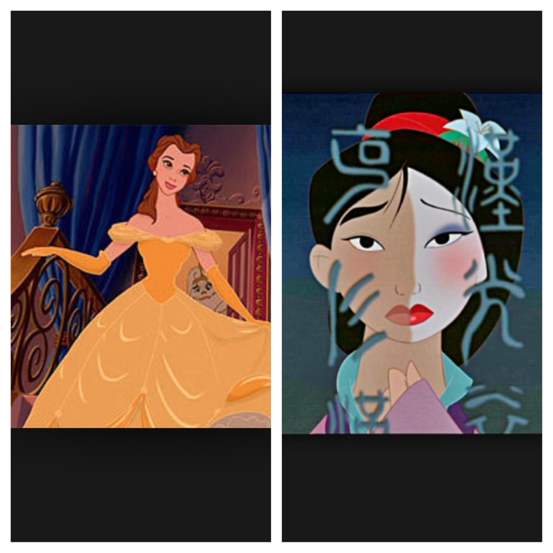Belle or mulan first to six this is the start of round two