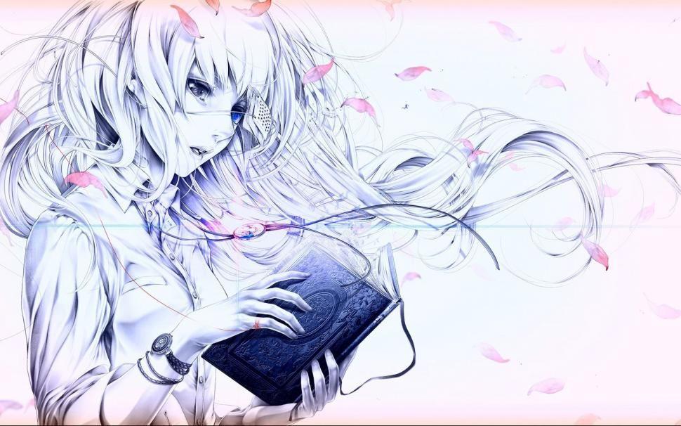 Girl reading a book wallpaper anime wallpaper better