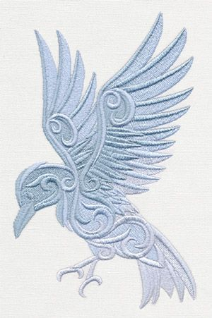 Baroque Natura - Raven | Urban Threads: Unique and Awesome Embroidery Designs