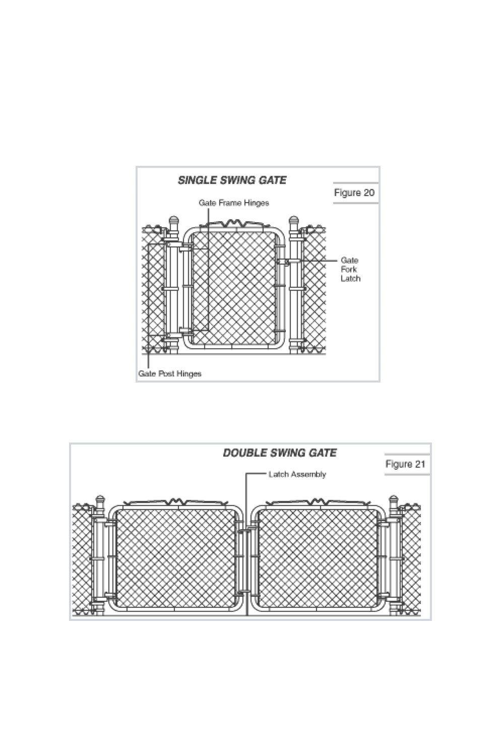 medium resolution of how to install chain link gate