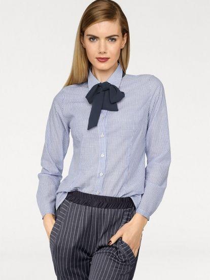 Dámska košeľa RICK CARDONA BY HEINE - bielomodrá