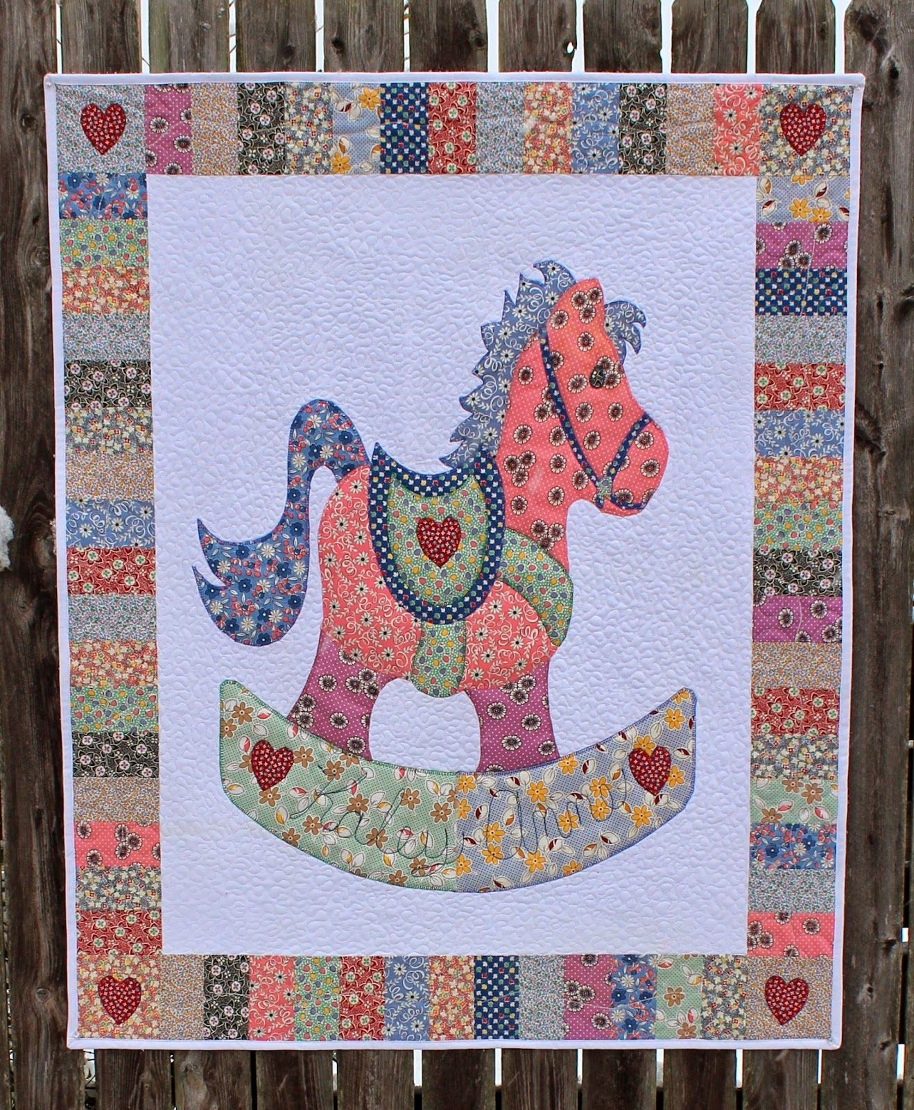 Rocking Horse CRAFT PROJECTS Embroidered Iron On Applique Patch Horse