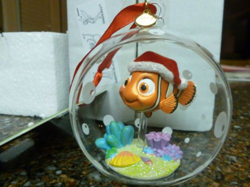 Disney Finding Nemo Hollow Glass Ball Sketchbook Christmas Ornament New w  tags! Disney Christmas Ornaments - Disney Finding Nemo Hollow Glass Ball Sketchbook Christmas Ornament