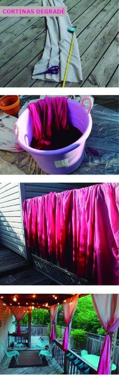 Como fazer cortinas degradê - Blog de decoração - Casa de Firulas