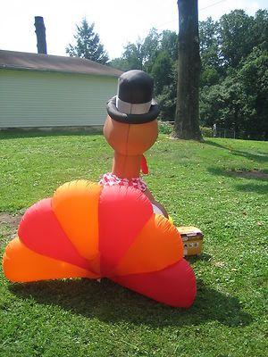 Gemmy Gobbling Turkey 6\u0027 Turkey Airblown Inflatable Thanksgiving