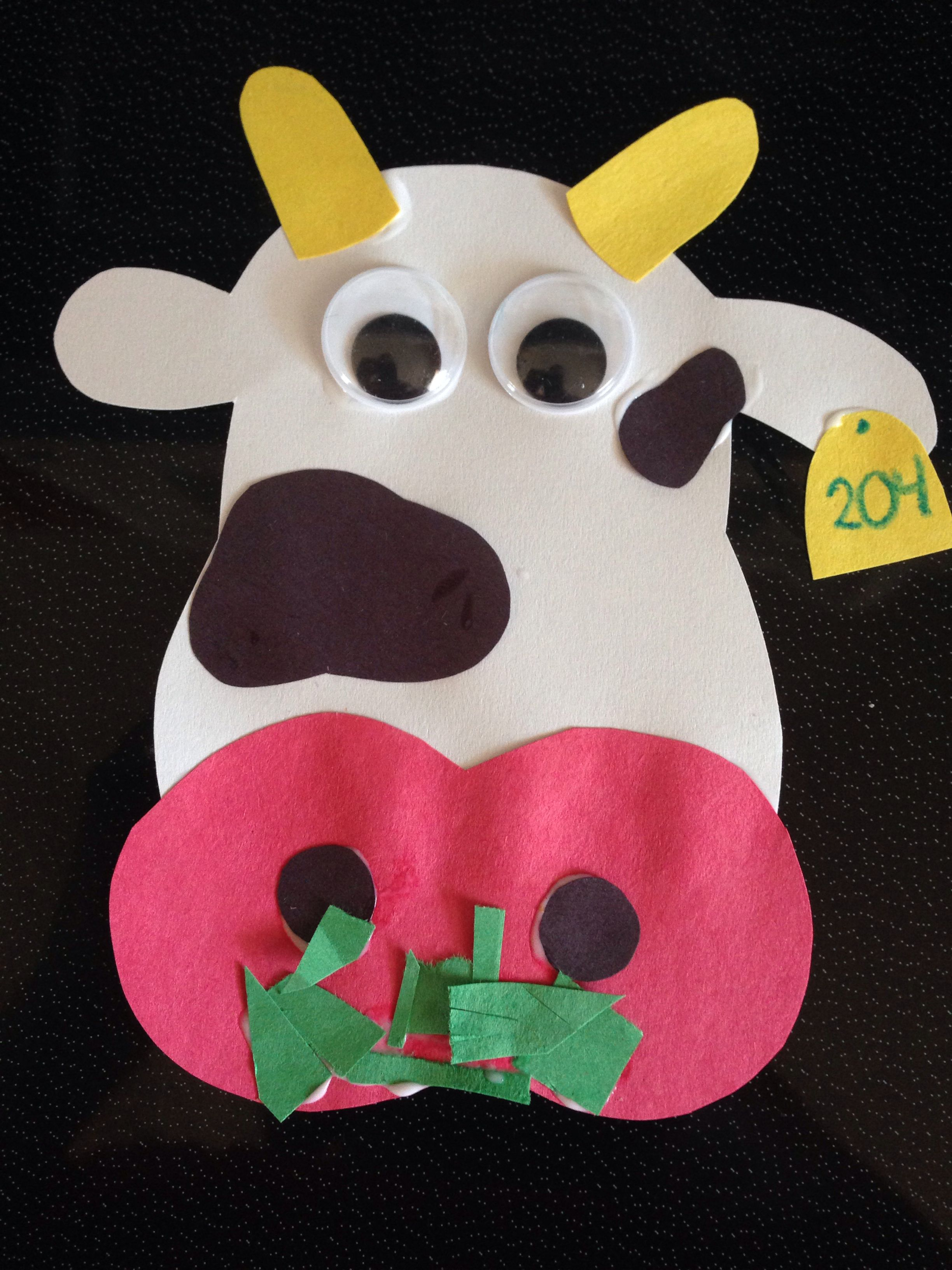 Construction Paper Cow Craft Cow Craft Kids Construction Paper Construction Paper Crafts [ 3264 x 2448 Pixel ]