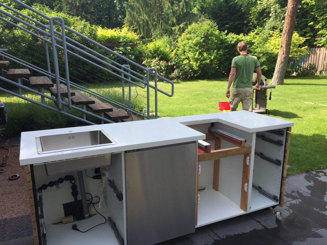 Diy Outdoorkuche Ikea Hack Ikea Outdoor Outdoor Kuche Selber Bauen Outdoor Grill Kuche
