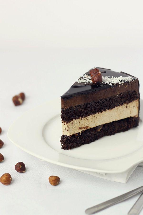 Pasiune pentru bucatarie: Tort fara gluten, cu crema bavareza de cafea si crema fina de ciocolata/Gluten free entremet