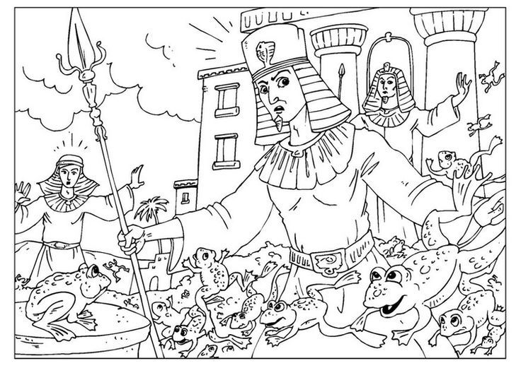 plague of frogs coloring page - Google Search | Exodus Coloring ...