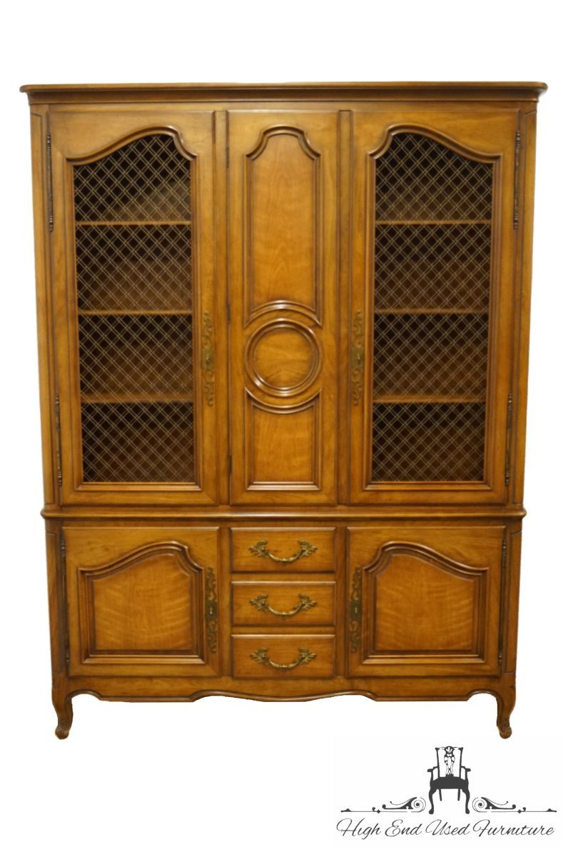 """HENREDON FURNITURE Country French Provincial 61"""" China"""