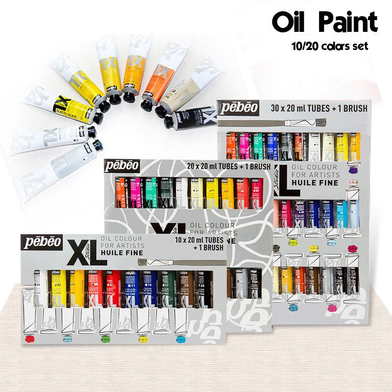 10 20 Colors 20ml Tube Oil Paint Sets Professional Oil Colors