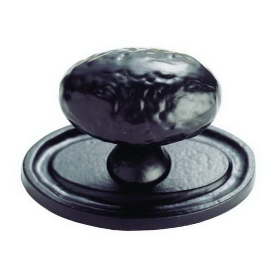 Black Antique Oval Cabinet Knobs (Oval Plate) - FTD1094BA