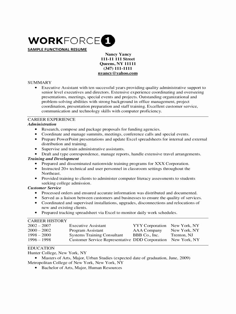 25 Free Functional Resume Templates in 2020 (With images