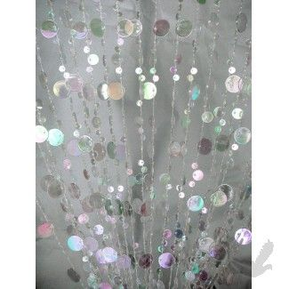 3\' x 6\' Foot Beaded Curtain Panels - Crystal Iridescent Champagne Bubble Curtains