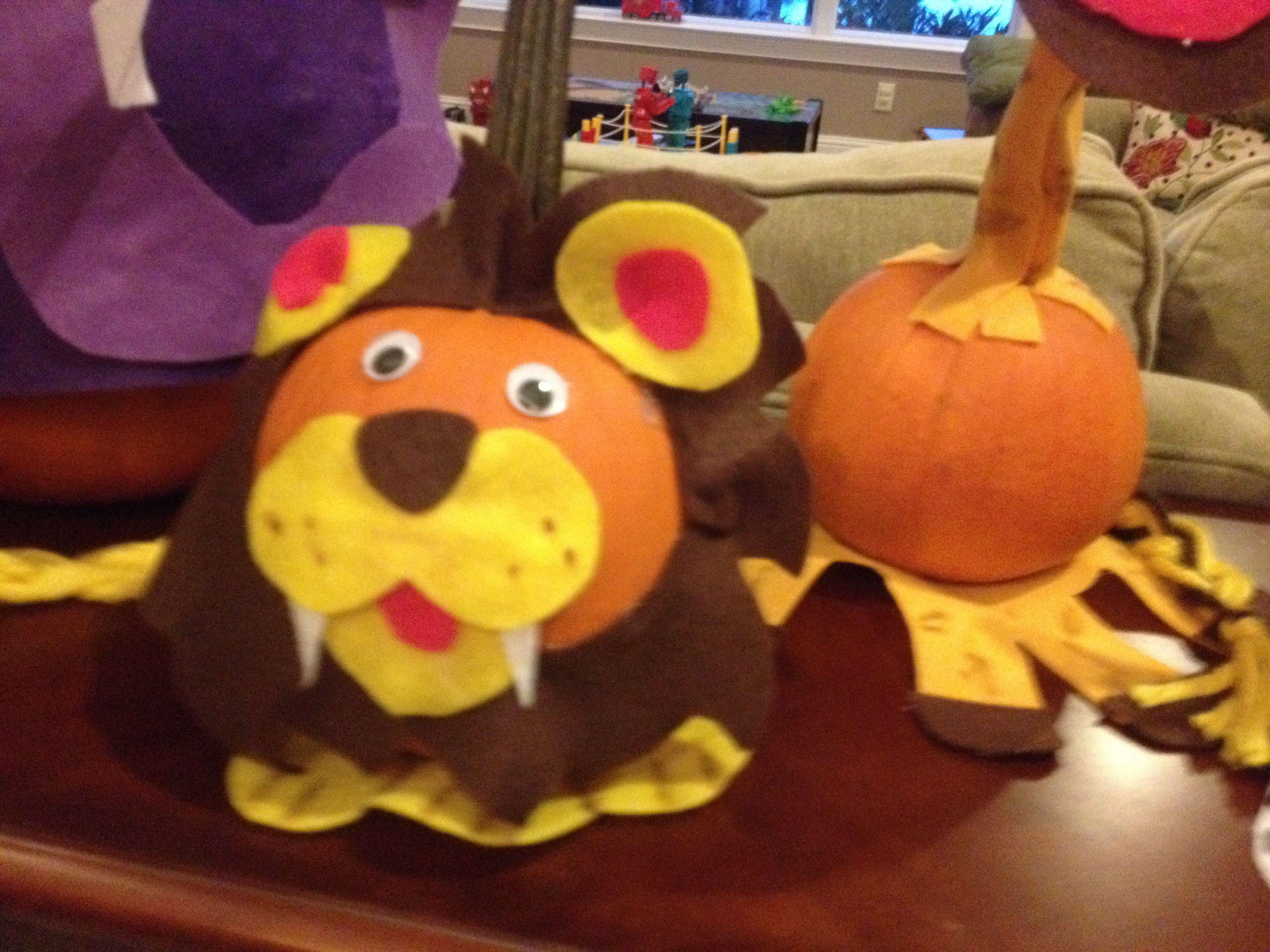 Lion Pumpkin