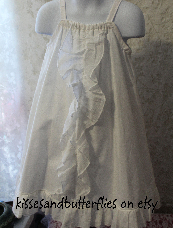New Handmade Dress Size 4 5t Sleeveless Ruffles Childrens Etsy Childrens Clothes Handmade Dresses White Beach Wear [ 3000 x 2280 Pixel ]