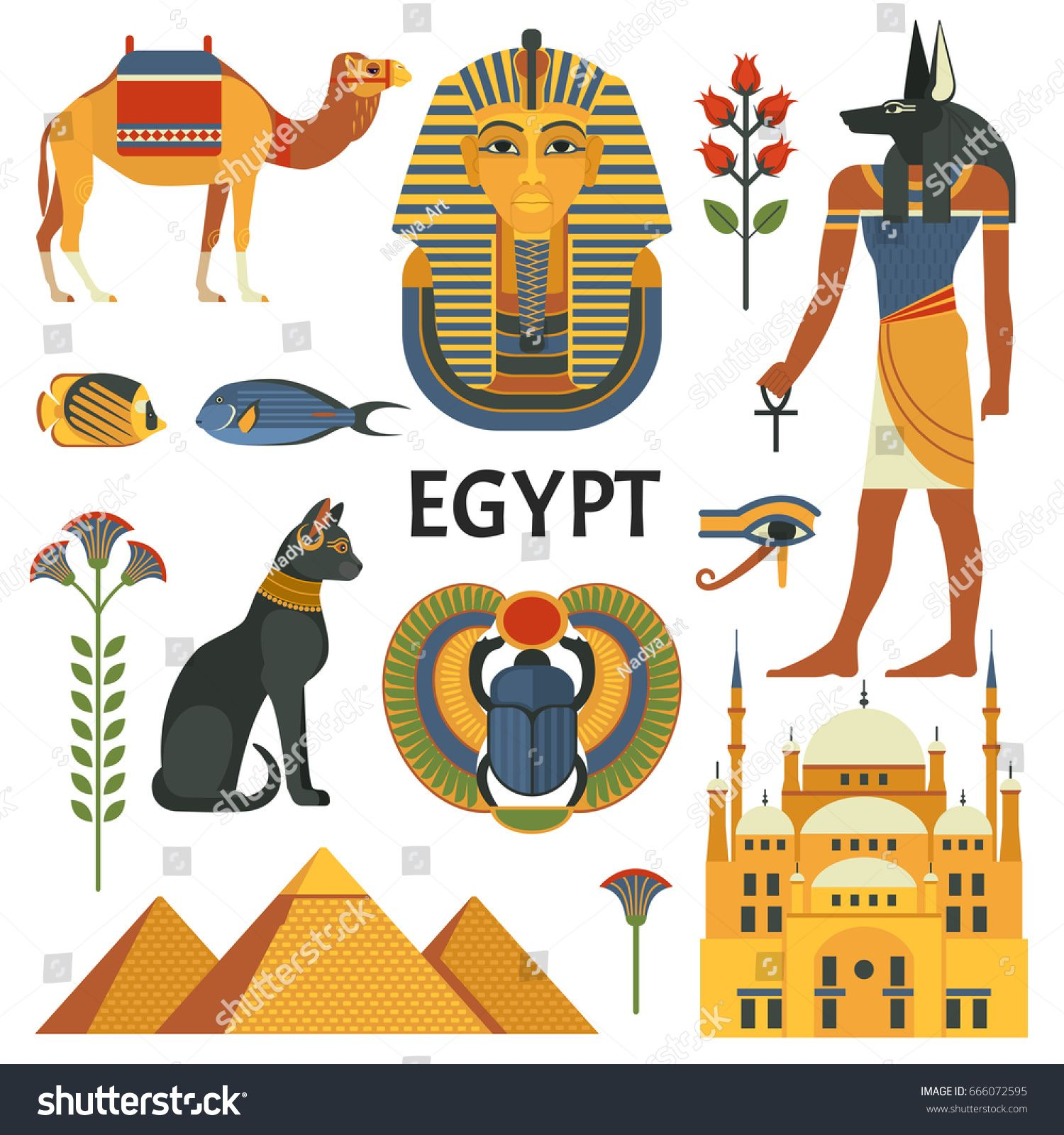 Edit Vectors Free Online Egypt icons in 2020 Ancient