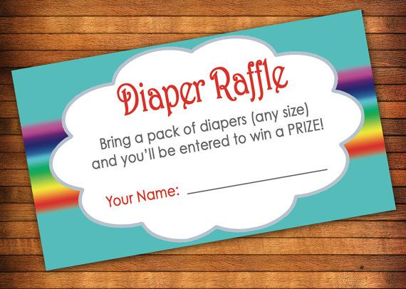 Rainbow Baby Shower Diaper Raffle Tickets Diaper By LilGiggs