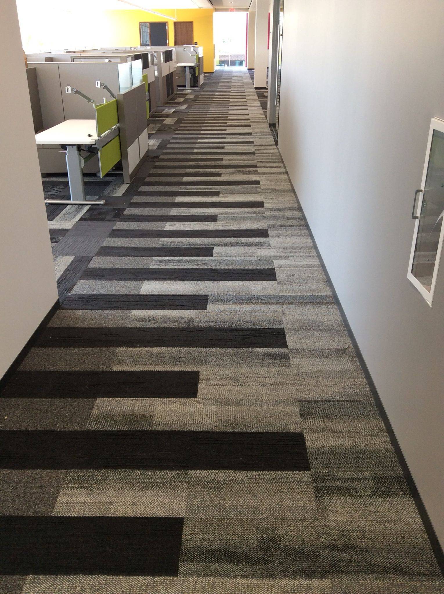 Interface Piano Key Install Carpet tiles office, Carpet