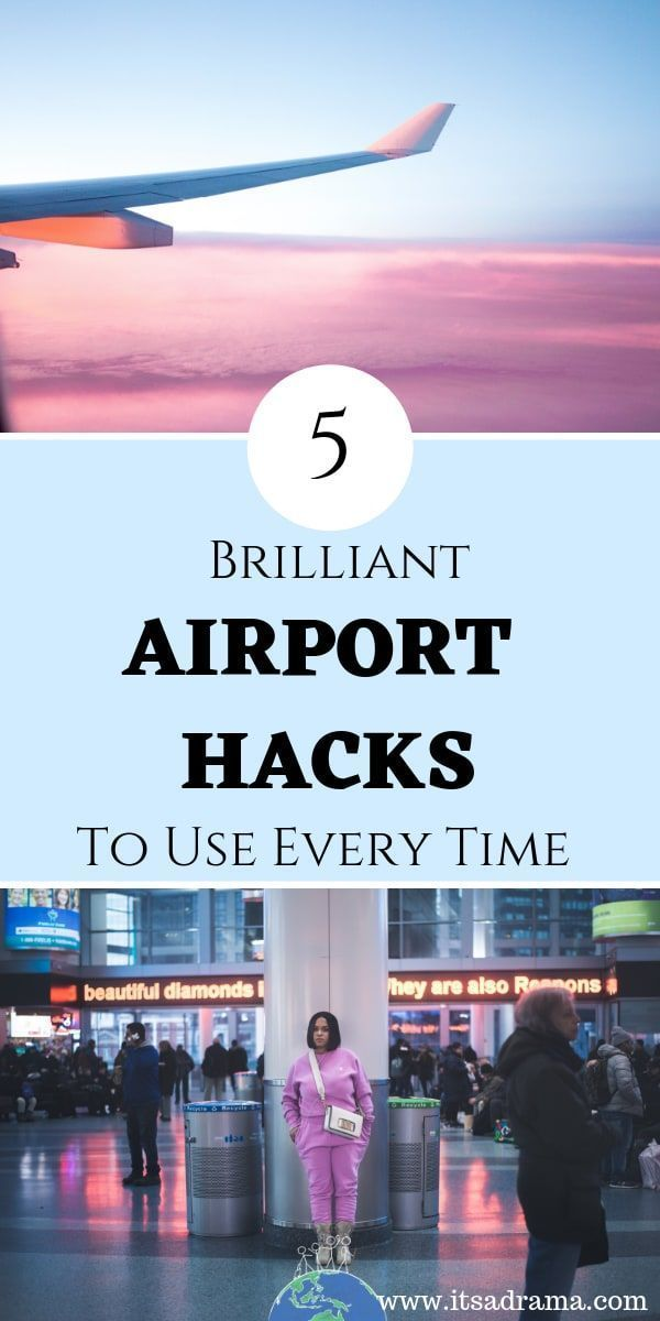 Traveling by plane? Airport travel tips are what you need! Air travel with kids or with friends should be as relaxing as possible. In order to start your vacation in the best way, you need to know the best airport hacks. These tips will save you time and money. Here are 5 of the best! #airporttraveltips #airporthacks #travelhacks #flyinghackstravel