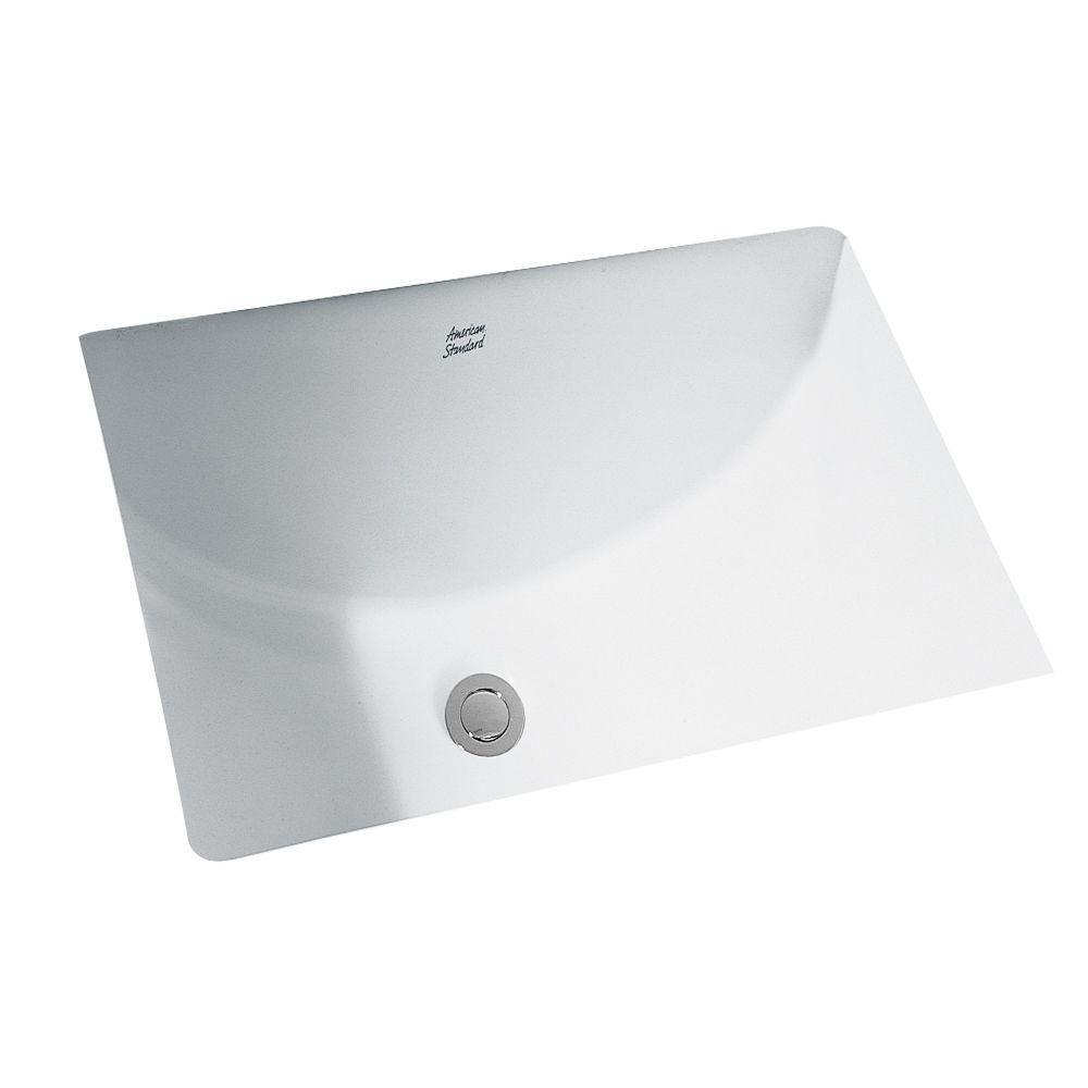 American Standard Studio Rectangular Undermount Bathroom Sink In White 0618 000 020 Porcelain Bathroom Sink Undermount Bathroom Sink Rectangular Sink Bathroom