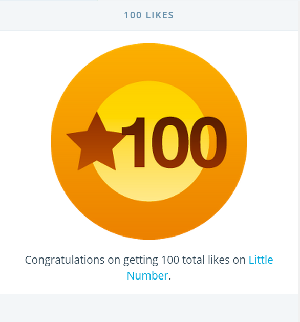 100 Likes on my Blog.  I reached this milestone on Monday :) It feels fantastic   Thank You   Xo