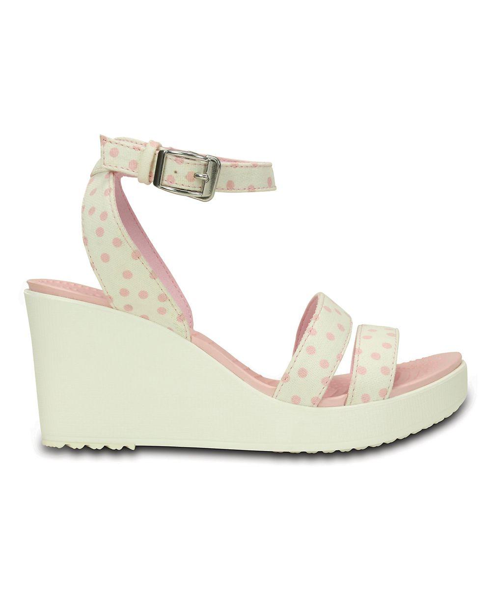fafd742d0b61 White   Pearl Pink Polka Dot Leigh Graphic Wedge Sandal - Women ...