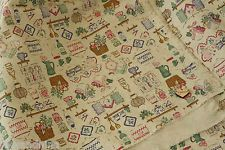 zakka shabby chic KITCHENWARE Japanese Cotton Linen blend quilting craft fabric, £6.50