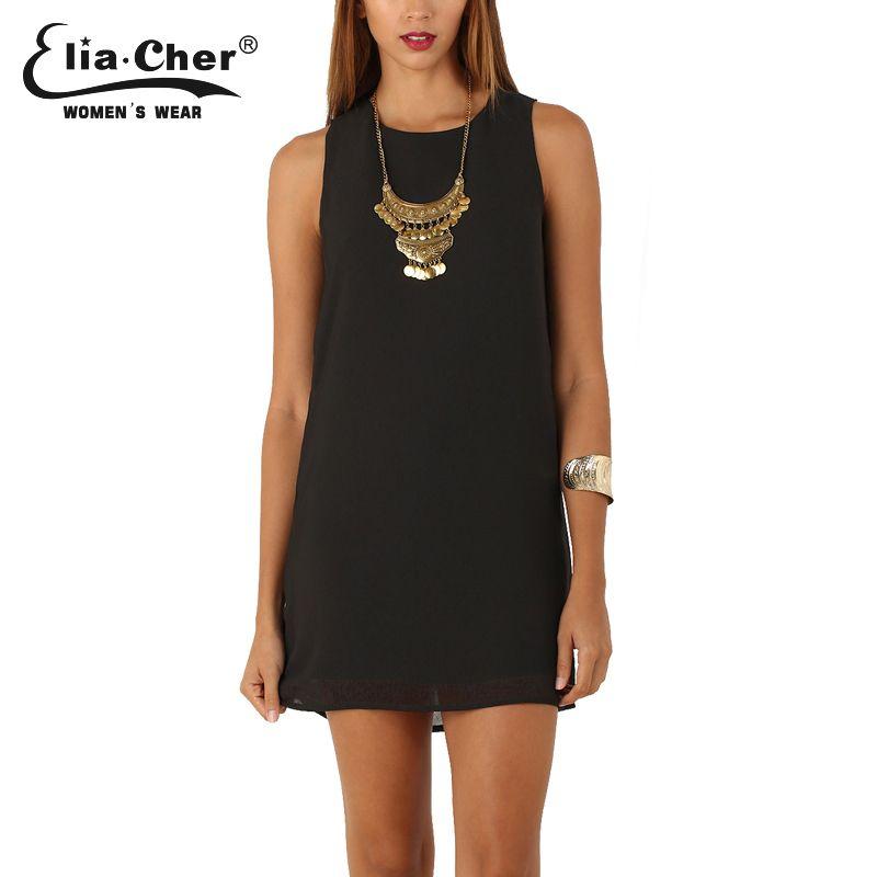 Elia-Cher Brand Causal Women Straight Cut Evening   Party Chiffon Dress    Price   30.78   FREE Shipping     hashtag3 49fcbdc20ff1