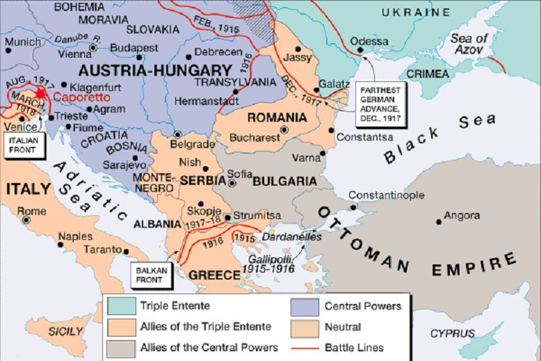 Grenzen en frontlinies in de balkan tussen de verschillende partijen europe map world war 1 before and after yahoo image search results gumiabroncs Image collections
