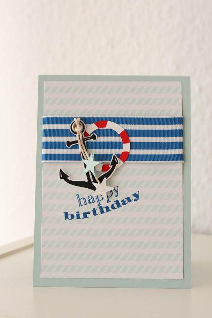Danielas Welt: Geburtstagskarte maritim