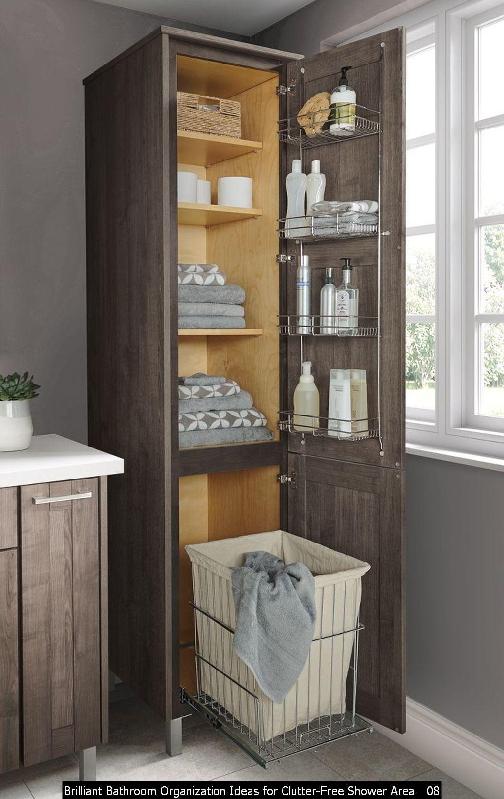 Stunning and Brilliant Bathroom Organization Ideas for ... on Small Area Bathroom Ideas  id=45549