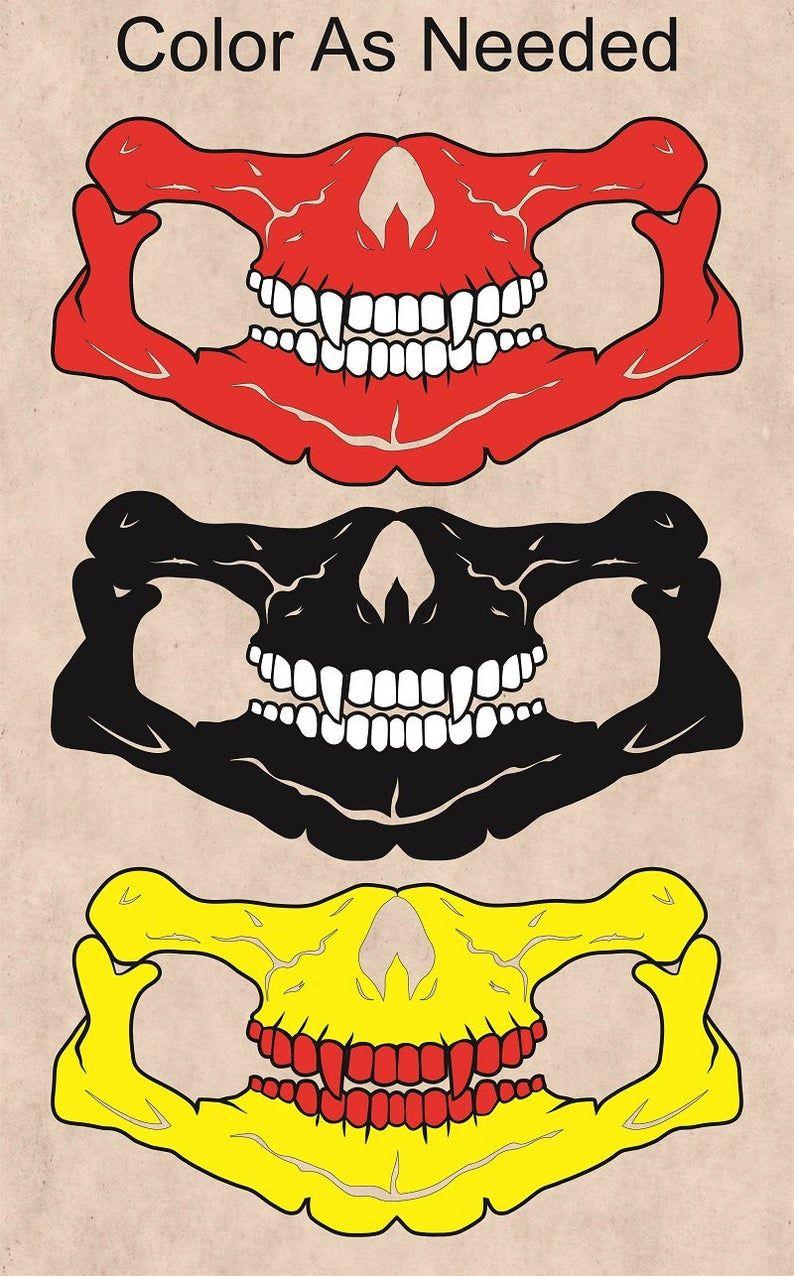 mortal kombat face mask svg