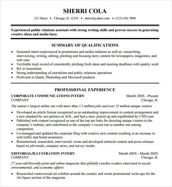 College Resume Format template Pinterest College resume